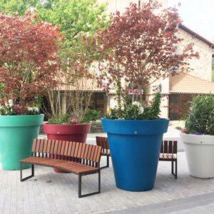 pot, rond, décoration, jardin