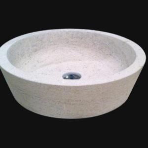 vasque ronde en pierre de Bourgogne