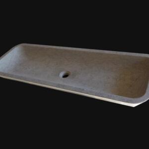 vasque rectangulaire évasée en pierre