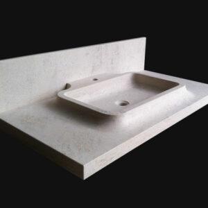 lavabo contemporain en pierre naturelle