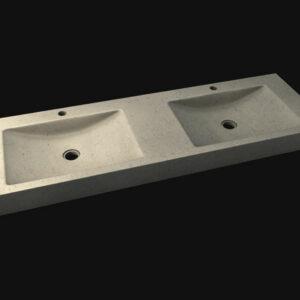 Vasque double en pierre naturelle
